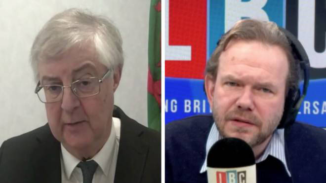 Mark Drakeford told LBC new cases are being driven almost entirely by the new variant