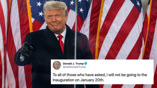 Donald Trump says he will not attend Joe Biden's Inauguration