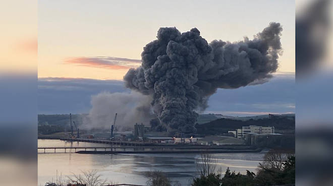 A major fire has broken out at Cork Port in Ireland
