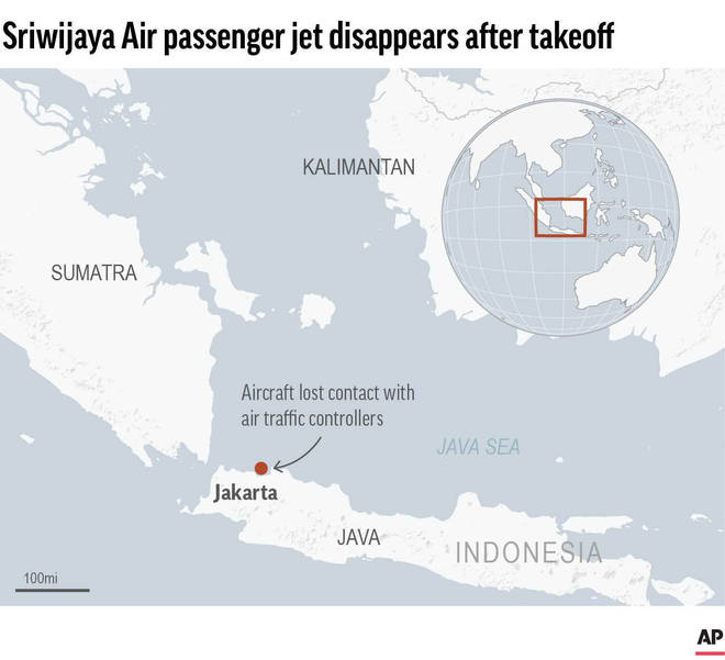 Map locating Jakarta, Indonesia