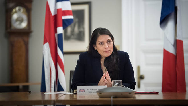 Priti Patel has defended how police have used Covid-19 fines