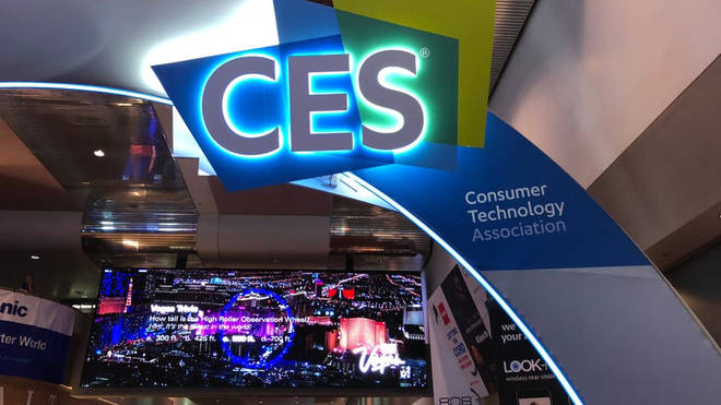A CES sign at the annual technology convention