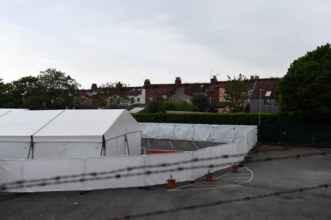File photo: A general view of the temporary mortuary set up to handle Covid-19 deaths at the Bristol City Council Depot
