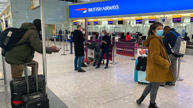 Heathrow passenger numbers have dropper 72.2% year-on-year