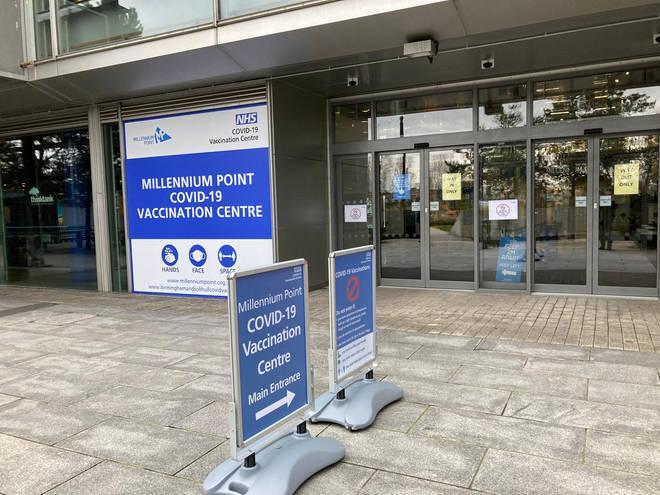 Millennium Point Covid Vaccination Centre in Birmingham