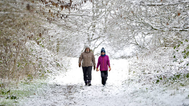 Yellow weather warnings are in place for Scotland and parts of northern England and the midlands for snow