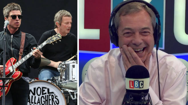 Noel Gallagher Nigel Farage