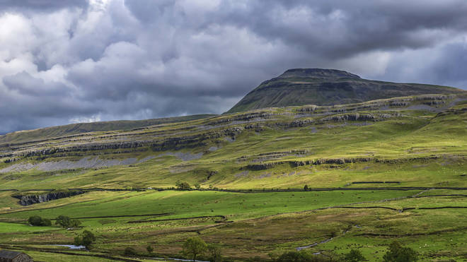 Ingleborough is the second-highest mountain in the Yorkshire Dales