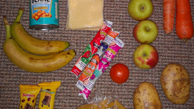 Several parents have come forward to criticise food parcels
