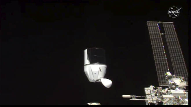 SpaceX's Dragon undocking from International Space Station