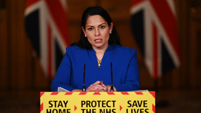 """Home Secretary Priti Patel said a minority of the public are """"putting the health of the nation at risk"""""""