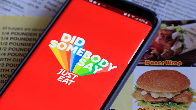The JustEat app on a smartphone