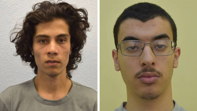 Parsons Green Tube bomber Ahmed Hassan(L) and Manchester Arena terrorist Hashem Abedi (R) have been charged with assault