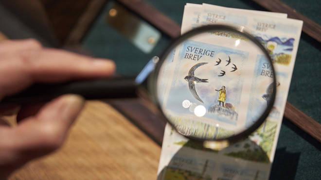 Greta Thunberg appears on a postal stamp in her native Sweden (David Keyton/AP)