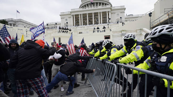 Trump supporters at the Capitol
