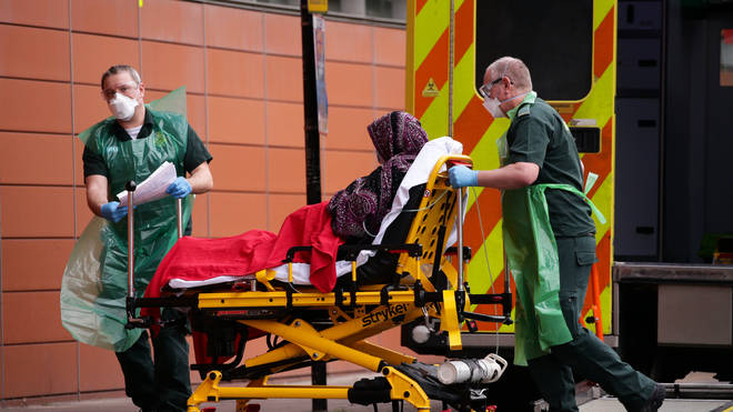 Emergency admissions to A&E departments at hospitals in England also showed a fall last month
