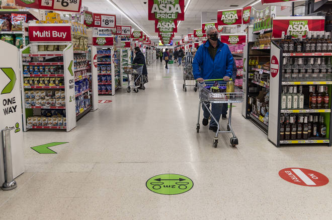 File photo: A general view of an ASDA supermarket in Wales