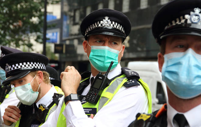 Some police officers have become seriously ill after being spat at and contracting Covid-19