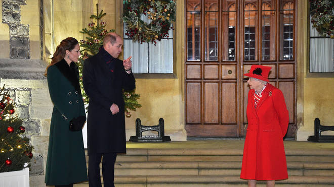 "Prince William said he is ""proud"" of the Queen for having her vaccine"