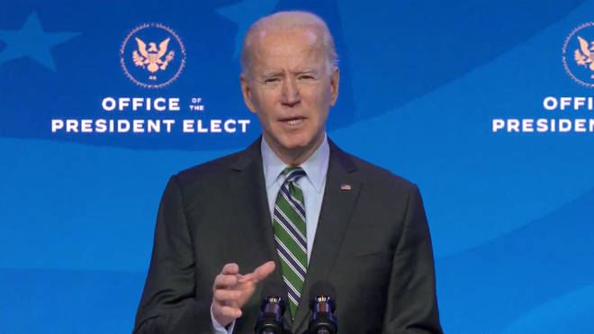 President-elect Joe Biden will deliver an appeal to national unity when he is sworn in on Wednesday