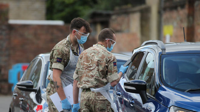 British soldiers have been key in helping with efforts to combat Covid-19