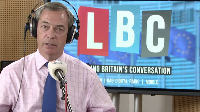 Nigel Farage was broadcasting his show from the EU Parliament in Brussels