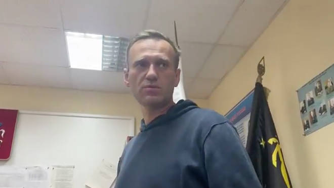 Alexei Navalny was arrested on his return to Russia