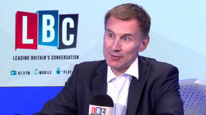 Jeremy Hunt in the LBC studio