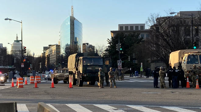 Troops on the ground in Washington DC ahead of the inauguration