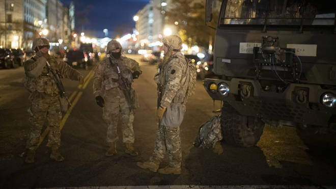 Thousands of troops are being deployed in Washington DC