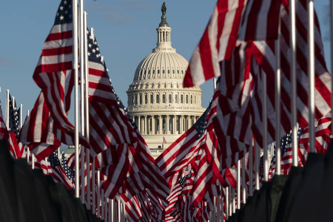 Joe Biden's inauguration as US president.