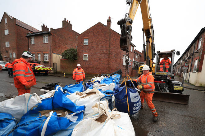 Flood barriers are being prepared in York and other parts of UK as Storm Christoph hits