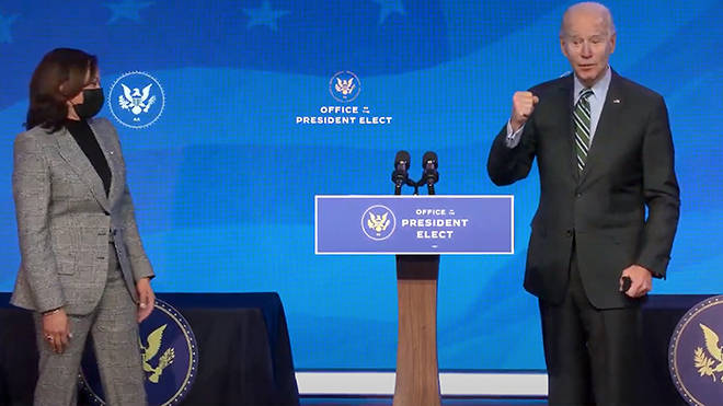 Joe Biden and Kamala Harris will be taking their oath around 5pm UK time