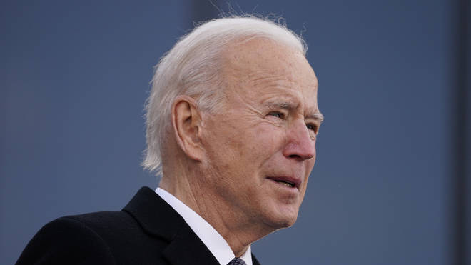 Joe Biden struggled to hold back tears during his farewell address to Delaware