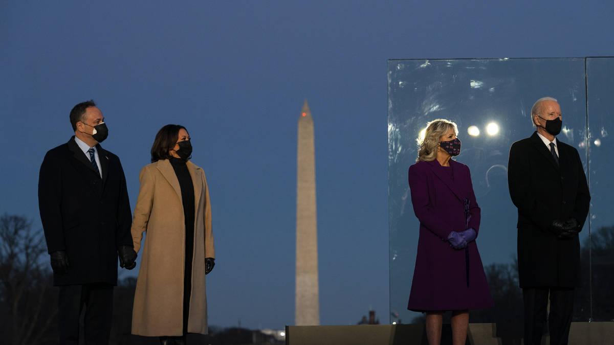 Joe Biden honours Covid-19 victims on eve of inauguration