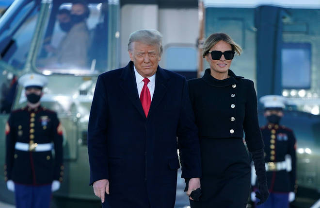 Mr and Mrs Trump will now travel to Florida