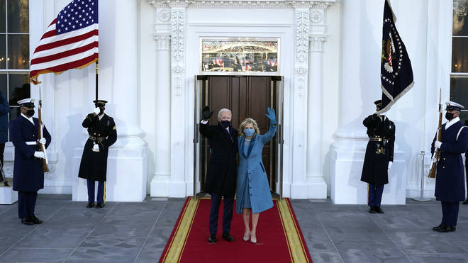 Joe and Jill Biden at the White House