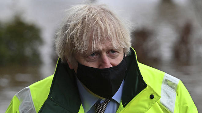 Boris Johnson has been visiting sites affected by Storm Christoph