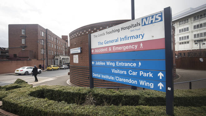 A man has been arrested following a small fire at Leeds General Infirmary