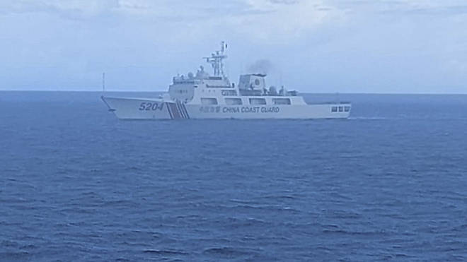A Chinese coast guard ship