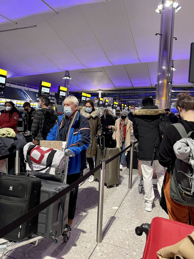 There have also been complaints over a lack of social distancing at check-in, despite airports being much less busy than normal.