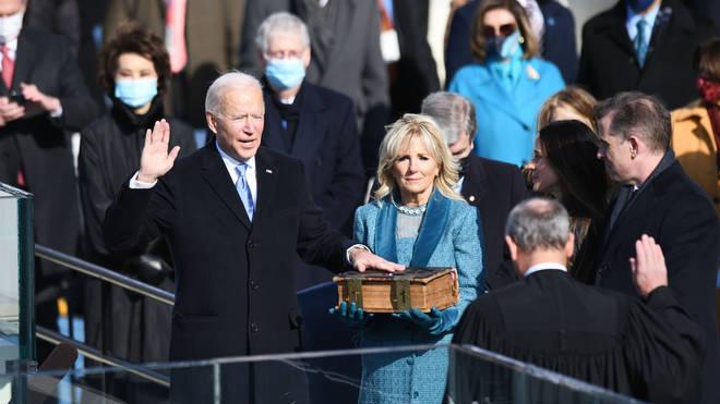 Joe Biden was sworn in as US President on Wednesday