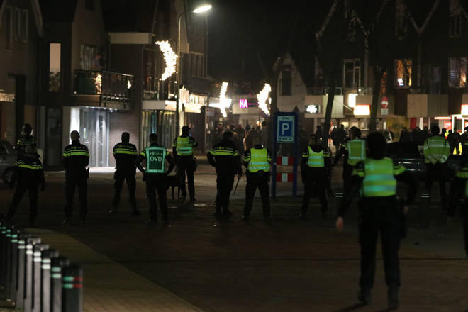 Riot police were called in to restore order in Urk.