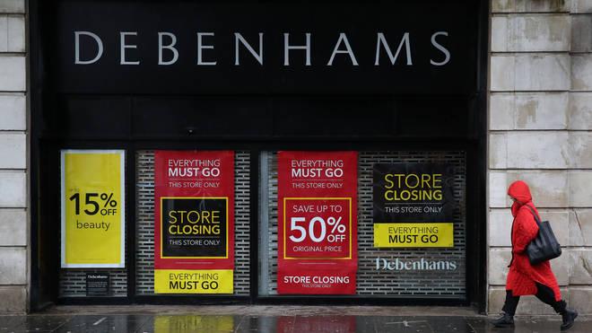Debenhams collapsed into administration last year