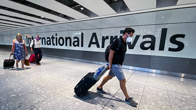 All arrivals into the UK will need to quarantine in local hotels