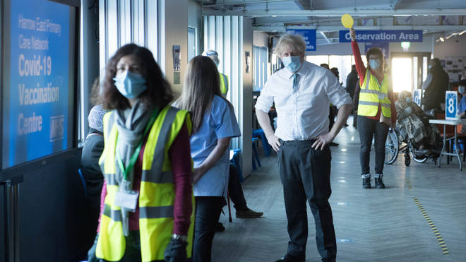 Boris Johnson spoke about the possibility of quarantine hotels being introduced during a visit to a vaccination centre