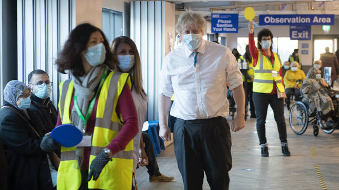 Boris Johnson hinted at the relaxing for lockdown restrictions from mid-February