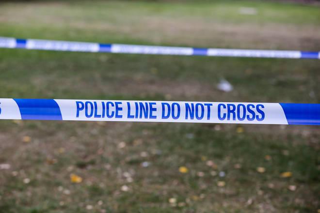 File photo: Police tape at a crime scene