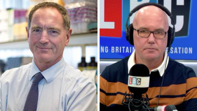 Prof Robert Read told LBC a vaccine dose delay could be beneficial