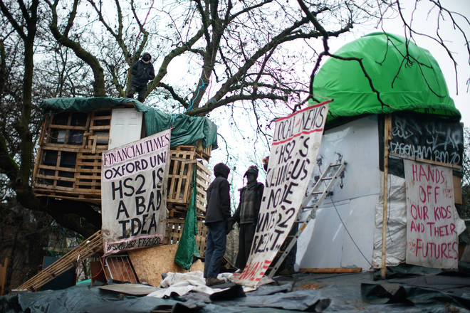 The encampment is in Euston Square